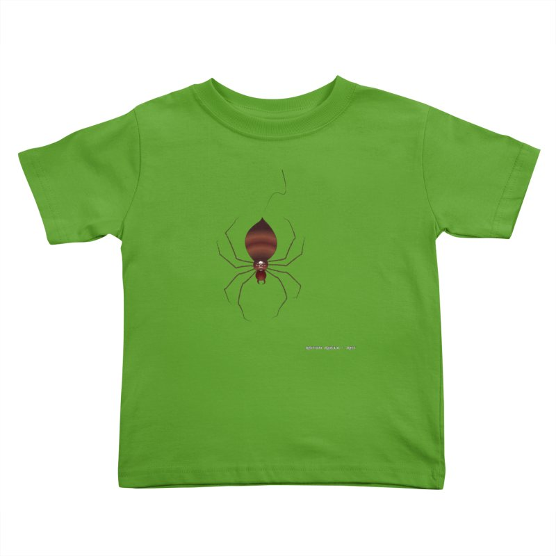 Itsy Bitsy Deadly Spider! Kids Toddler T-Shirt by AntonAbela-Art's Artist Shop