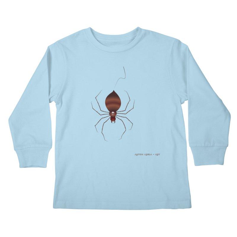 Itsy Bitsy Deadly Spider! Kids Longsleeve T-Shirt by AntonAbela-Art's Artist Shop