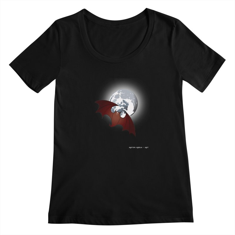 The One That Hovers Women's Scoopneck by AntonAbela-Art's Artist Shop