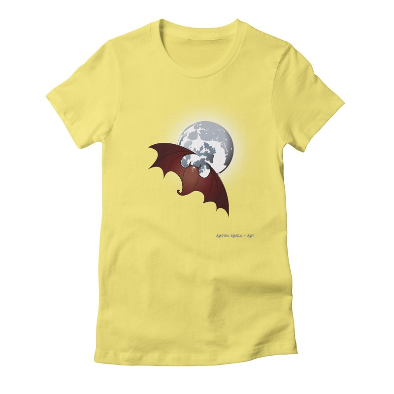 The One That Hovers Women's Fitted T-Shirt by AntonAbela-Art's Artist Shop