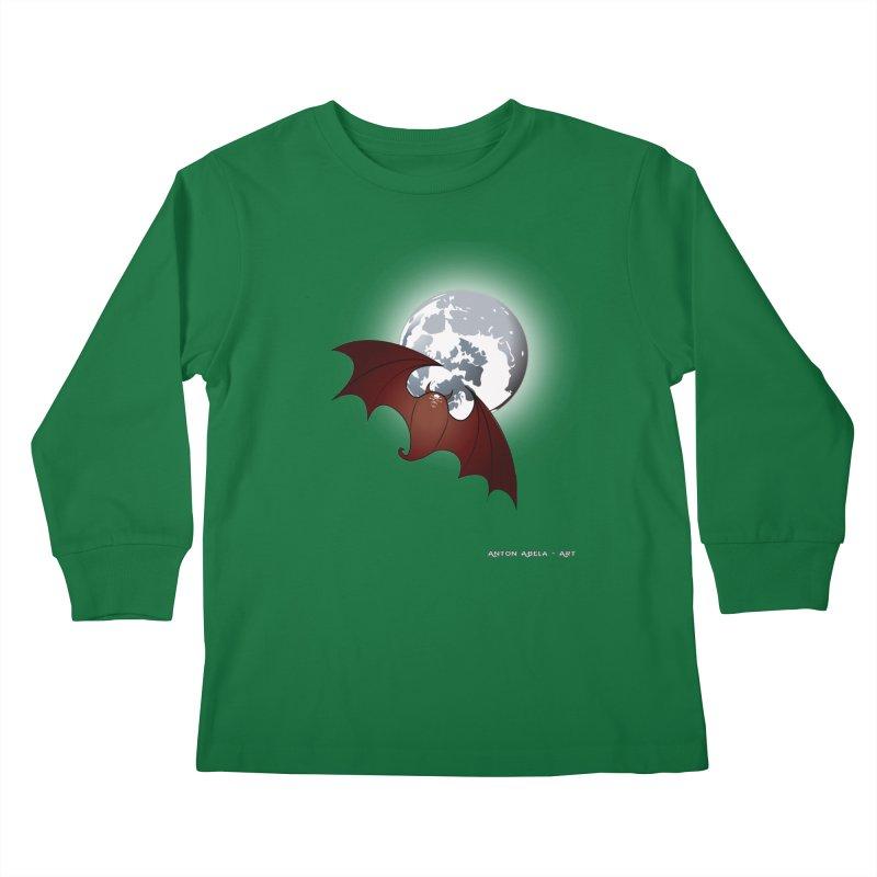 The One That Hovers Kids Longsleeve T-Shirt by AntonAbela-Art's Artist Shop