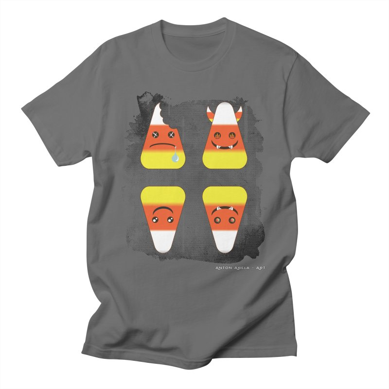 4 Candy Corns Women's T-Shirt by AntonAbela-Art's Artist Shop