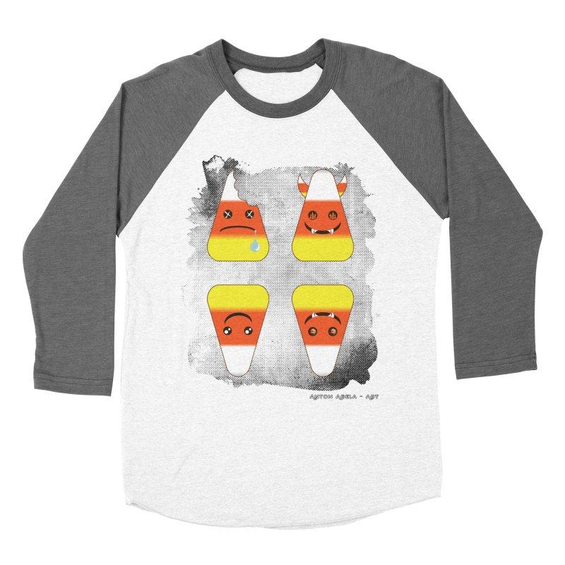 4 Candy Corns Women's Longsleeve T-Shirt by AntonAbela-Art's Artist Shop