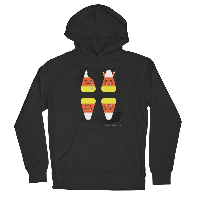 4 Candy Corns Men's French Terry Pullover Hoody by AntonAbela-Art's Artist Shop