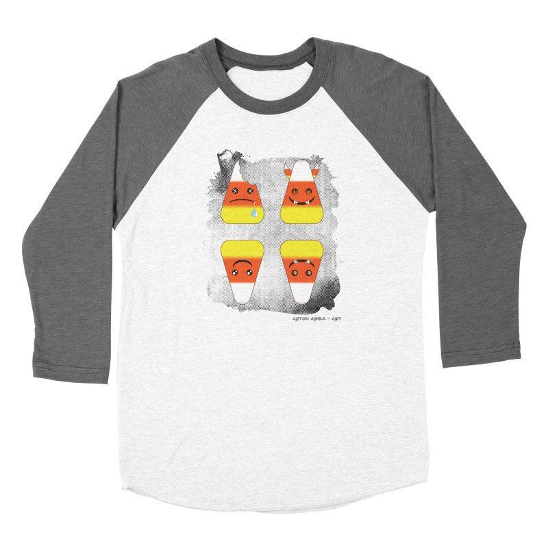 4 Candy Corns Women's Longsleeve T-Shirt by AntonAbela-Art's Artist Shop
