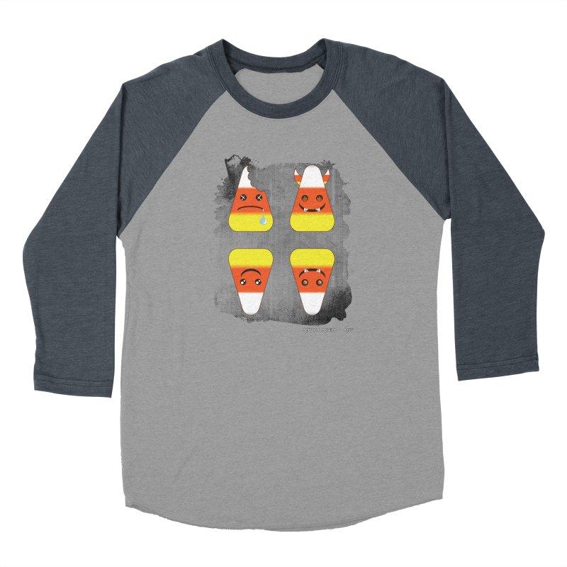 4 Candy Corns Women's Baseball Triblend Longsleeve T-Shirt by AntonAbela-Art's Artist Shop