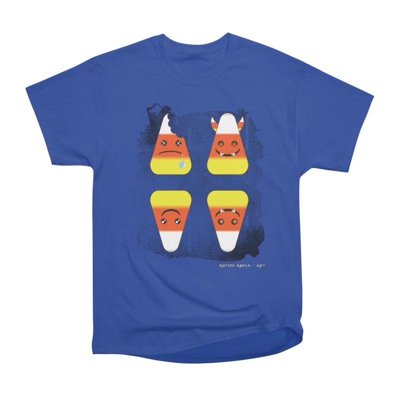 4 Candy Corns Women's Heavyweight Unisex T-Shirt by AntonAbela-Art's Artist Shop