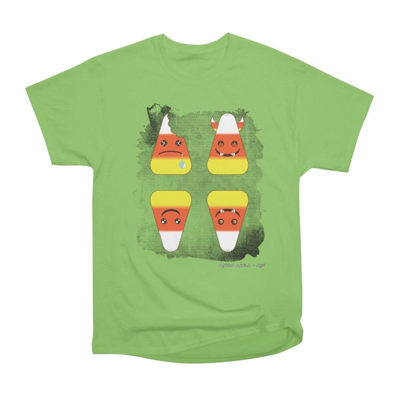 4 Candy Corns Men's Heavyweight T-Shirt by AntonAbela-Art's Artist Shop
