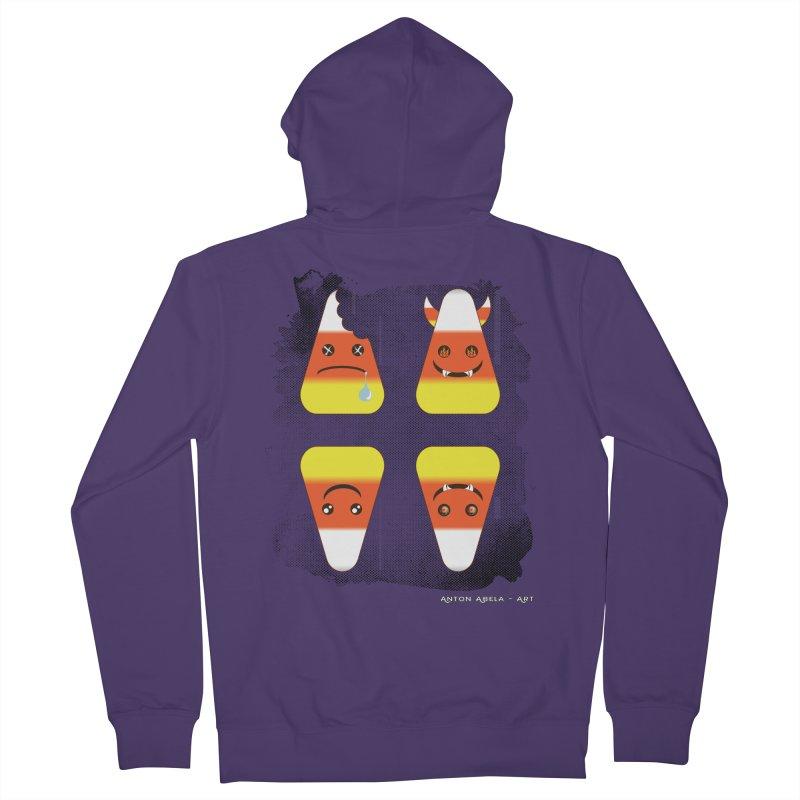 4 Candy Corns Women's Zip-Up Hoody by AntonAbela-Art's Artist Shop