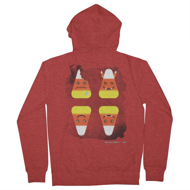 4 Candy Corns Men's Zip-Up Hoody by AntonAbela-Art's Artist Shop
