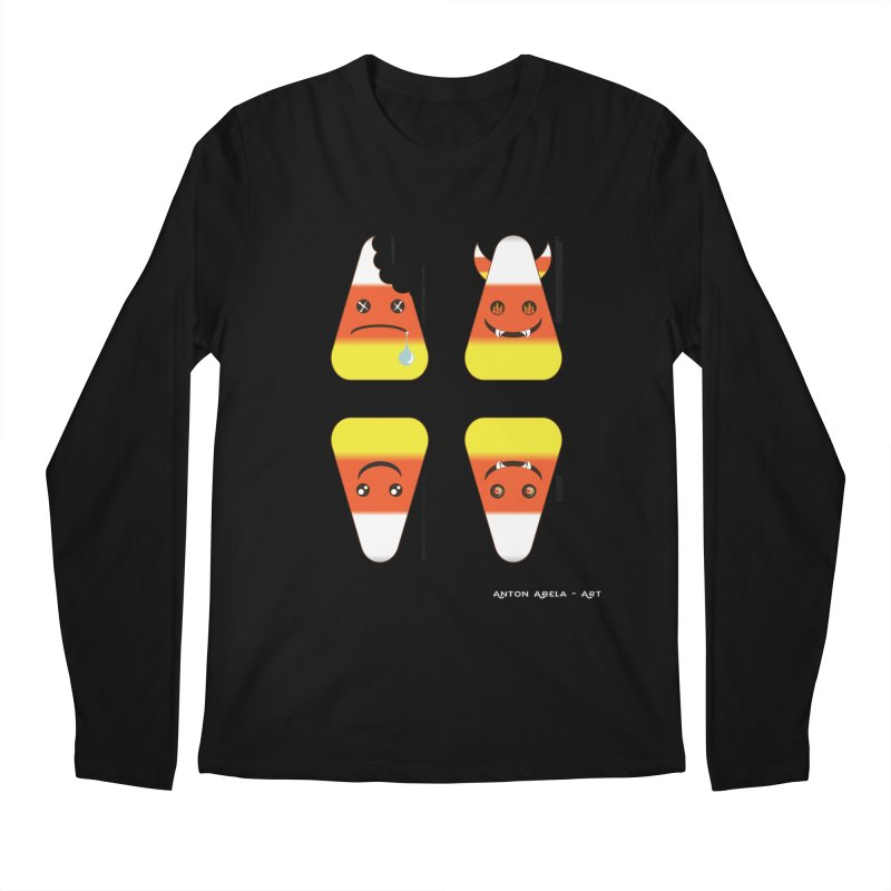 4 Candy Corns Men's Regular Longsleeve T-Shirt by AntonAbela-Art's Artist Shop