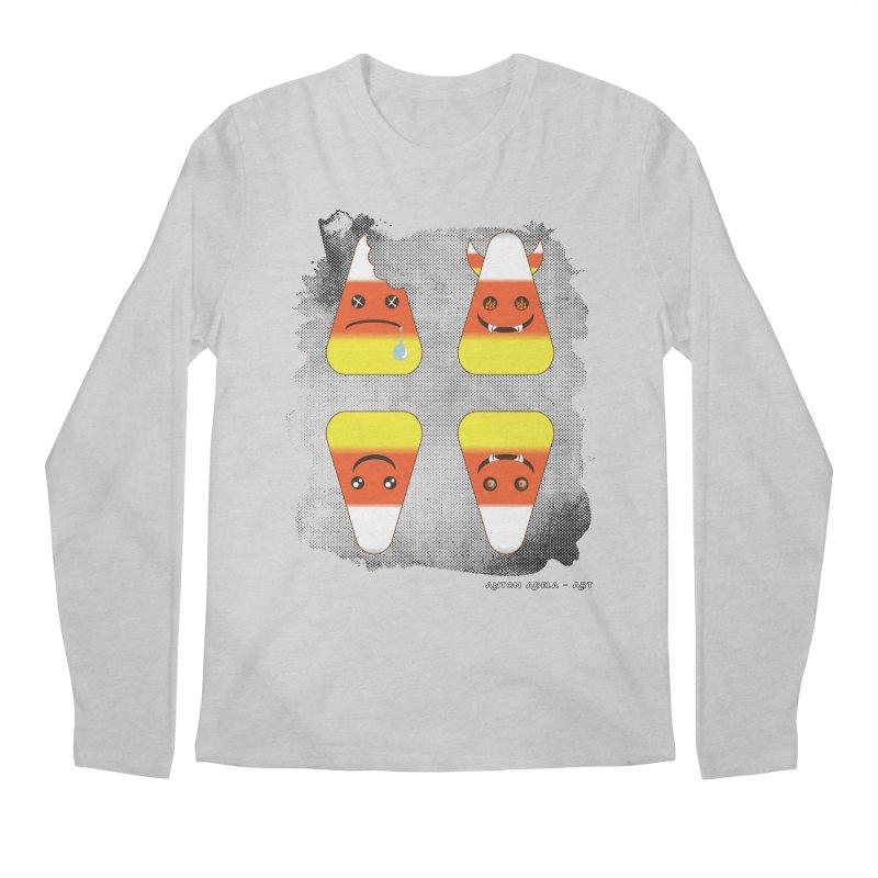 4 Candy Corns Men's Regular Longsleeve T-Shirt by AntonAbela-Art's Artist Shop
