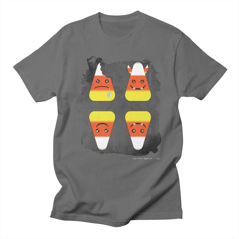4 Candy Corns Men's Regular T-Shirt by AntonAbela-Art's Artist Shop