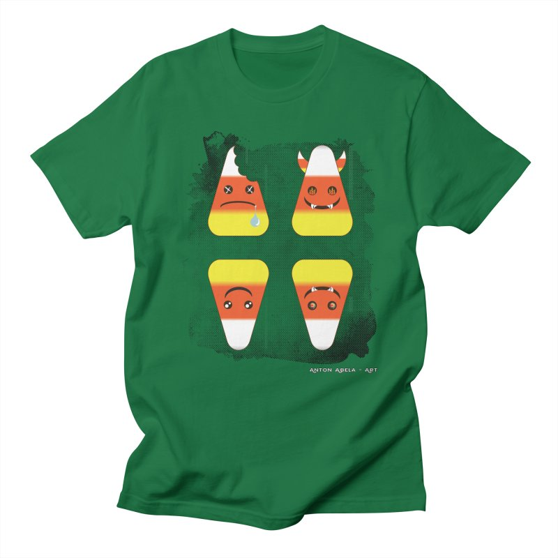 4 Candy Corns Men's T-Shirt by AntonAbela-Art's Artist Shop