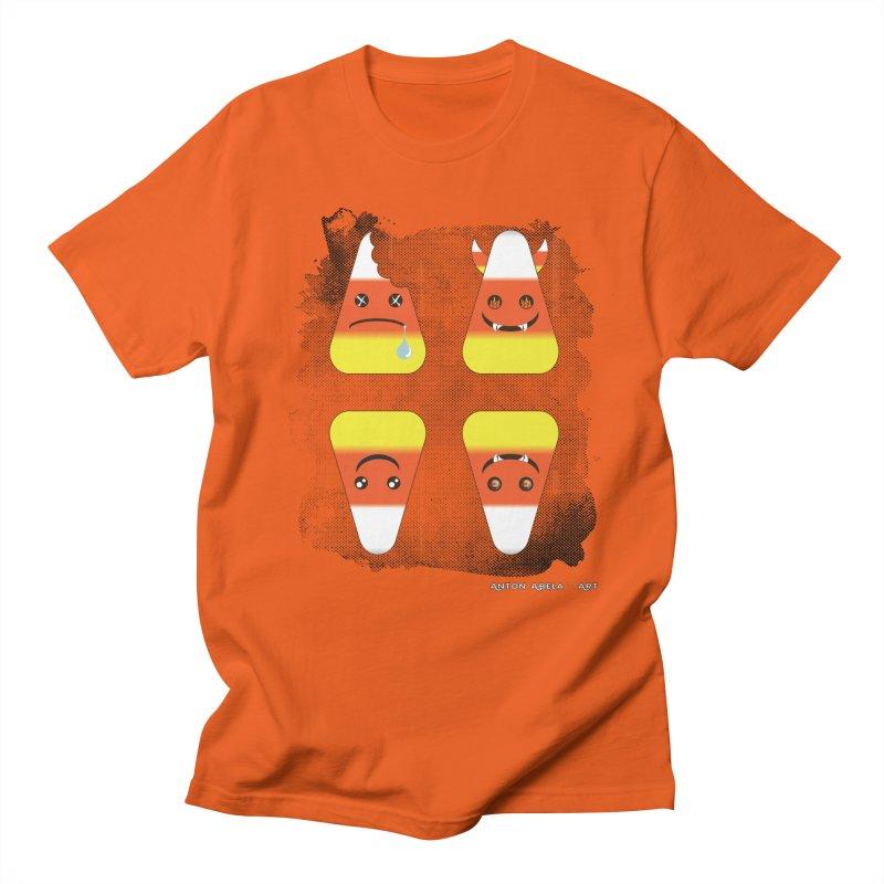 4 Candy Corns Men's T-Shirt by AntonAbela-Art's Artist Shop