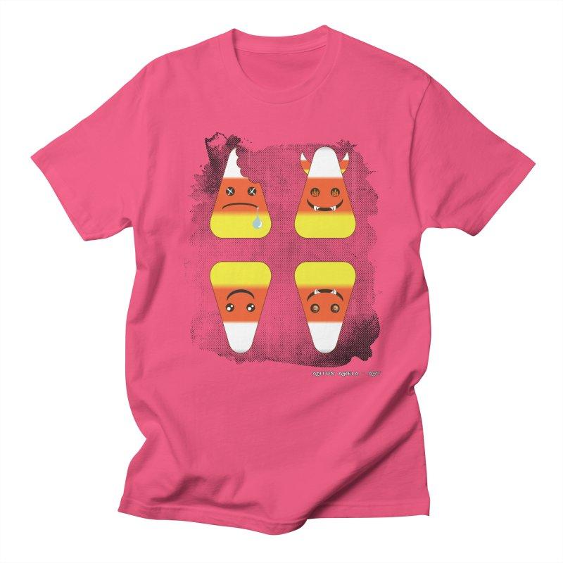 4 Candy Corns Women's Regular Unisex T-Shirt by AntonAbela-Art's Artist Shop