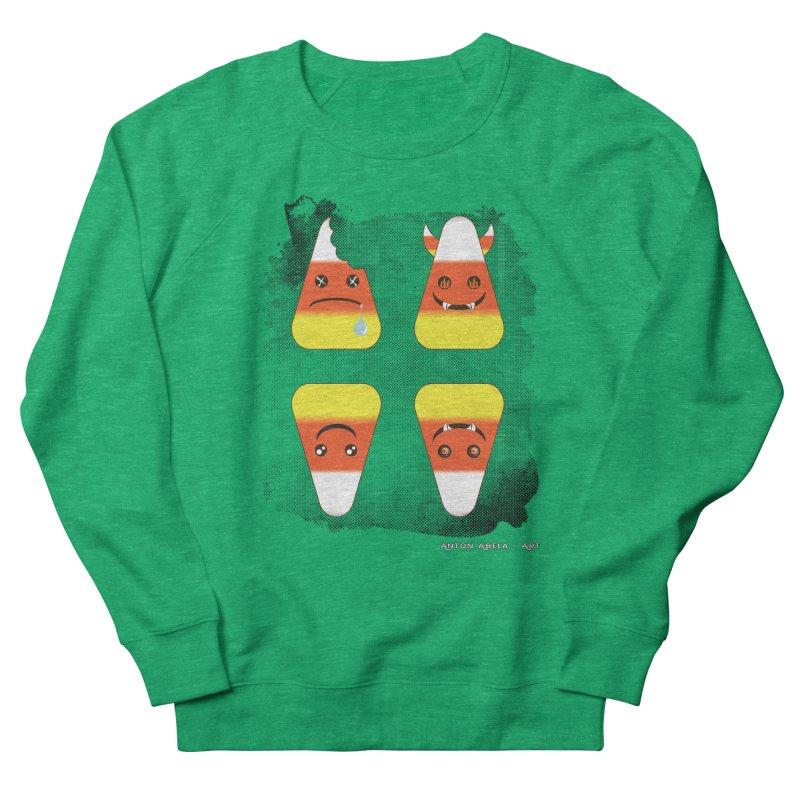 4 Candy Corns Women's Sweatshirt by AntonAbela-Art's Artist Shop