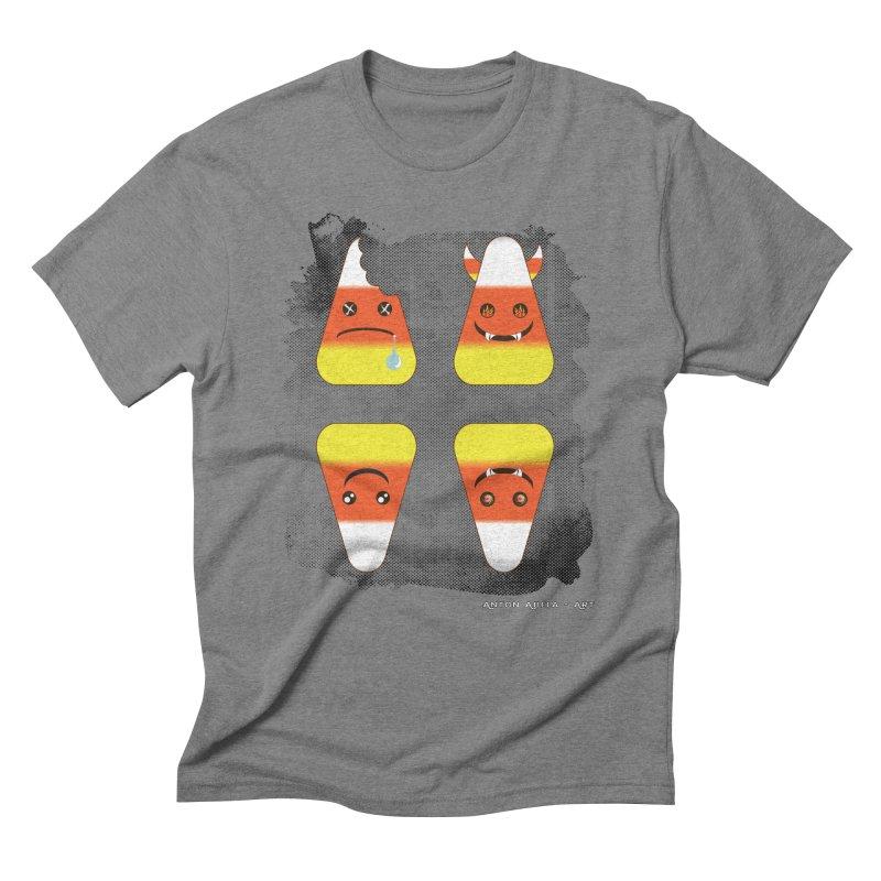 4 Candy Corns Men's Triblend T-Shirt by AntonAbela-Art's Artist Shop