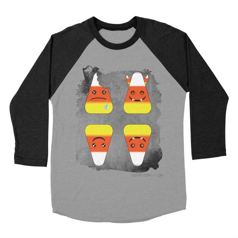 4 Candy Corns Men's Baseball Triblend T-Shirt by AntonAbela-Art's Artist Shop