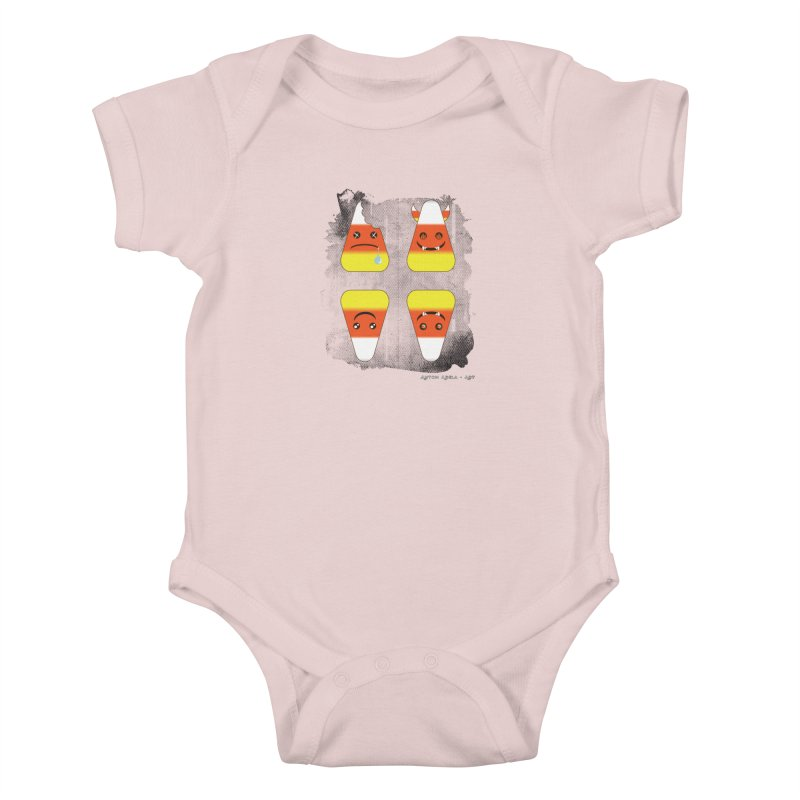 4 Candy Corns Kids Baby Bodysuit by AntonAbela-Art's Artist Shop