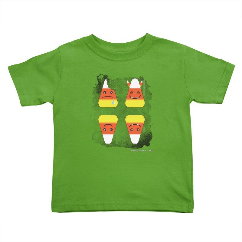4 Candy Corns Kids Toddler T-Shirt by AntonAbela-Art's Artist Shop