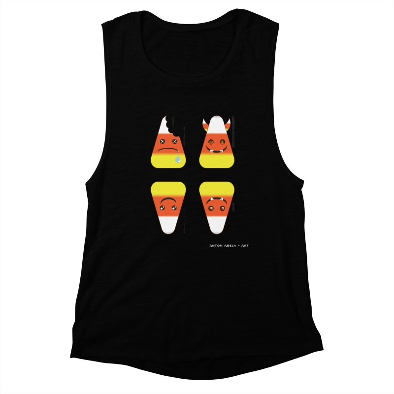 4 Candy Corns Women's Tank by AntonAbela-Art's Artist Shop