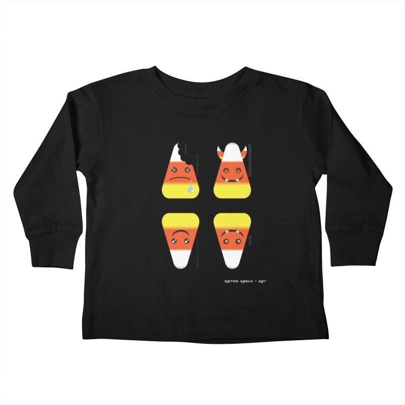 4 Candy Corns Kids Toddler Longsleeve T-Shirt by AntonAbela-Art's Artist Shop