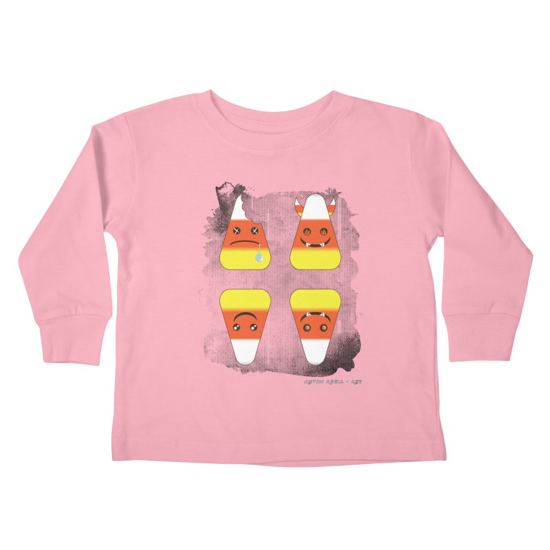 4 Candy Corns Kids Toddler Longsleeve T-Shirt by AntonAbela-Art's Artist Shop