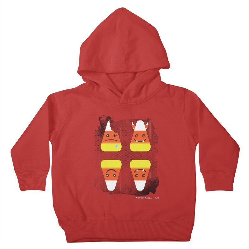 4 Candy Corns Kids Toddler Pullover Hoody by AntonAbela-Art's Artist Shop