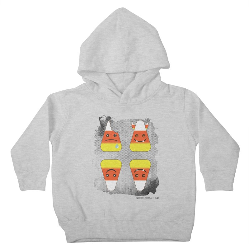 4 Candy Corns Kids Toddler Pullover Hoody by AntonAbela-Art's Artist Shop