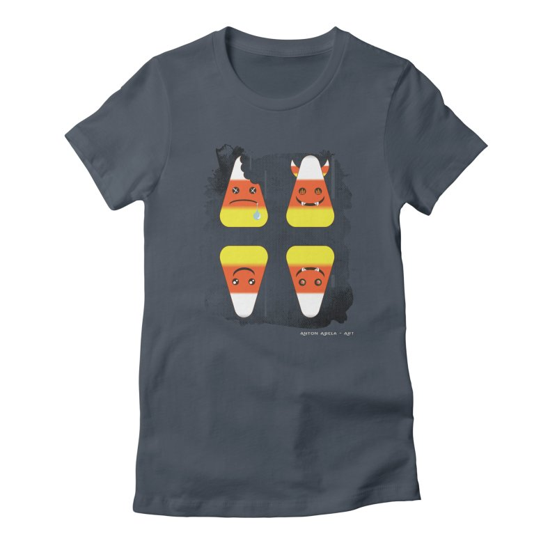 4 Candy Corns Women's T-Shirt by AntonAbela-Art's Artist Shop
