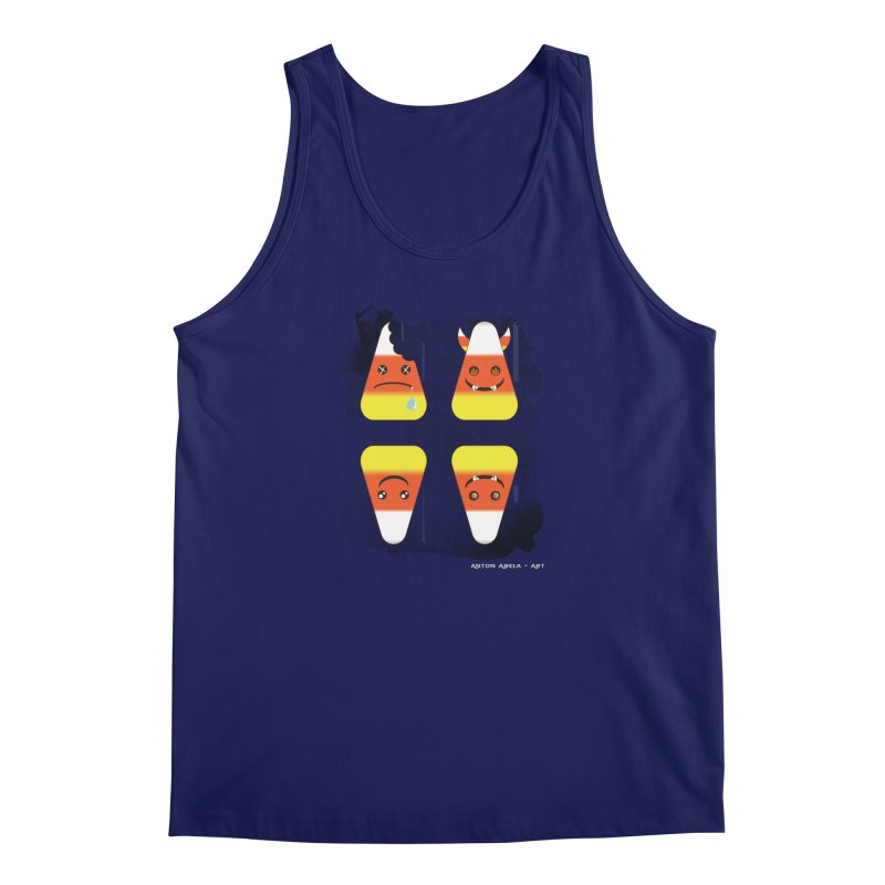 4 Candy Corns Men's Tank by AntonAbela-Art's Artist Shop