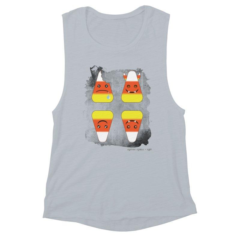 4 Candy Corns Women's Muscle Tank by AntonAbela-Art's Artist Shop