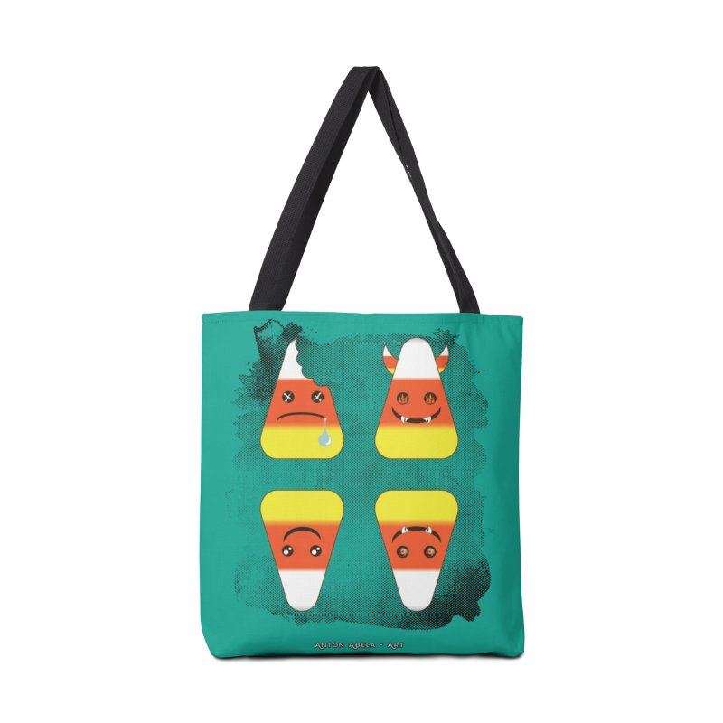 4 Candy Corns Accessories Tote Bag Bag by AntonAbela-Art's Artist Shop