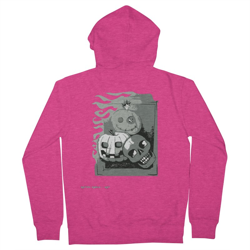 3 Best Buds Women's French Terry Zip-Up Hoody by AntonAbela-Art's Artist Shop