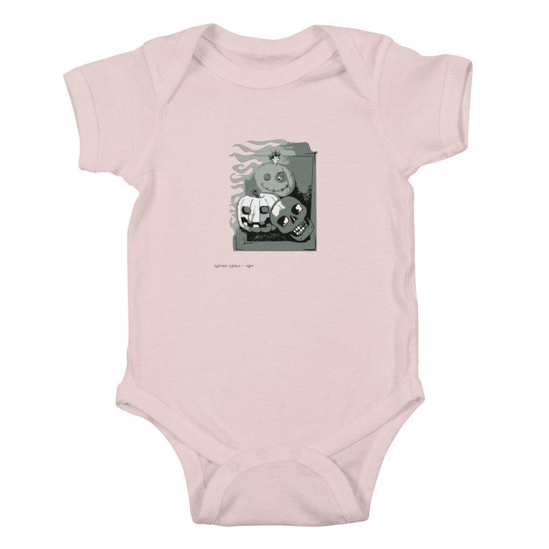 3 Best Buds Kids Baby Bodysuit by AntonAbela-Art's Artist Shop