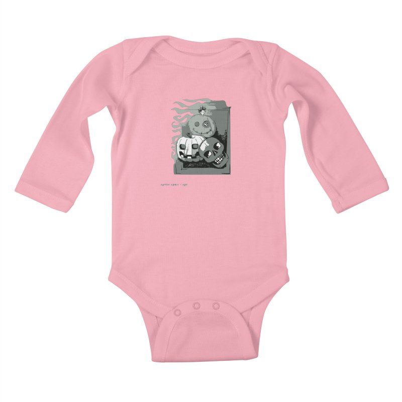 3 Best Buds Kids Baby Longsleeve Bodysuit by AntonAbela-Art's Artist Shop
