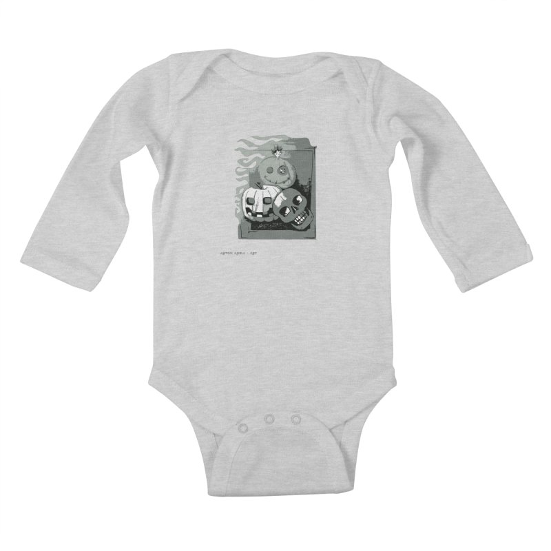3 Best Buds Kids Baby Longsleeve Bodysuit by AntonAbela-Art's Artist Shop