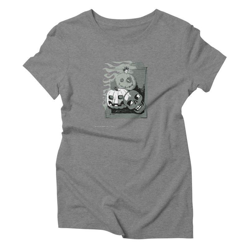 3 Best Buds in Women's Triblend T-Shirt Grey Triblend by AntonAbela-Art's Artist Shop