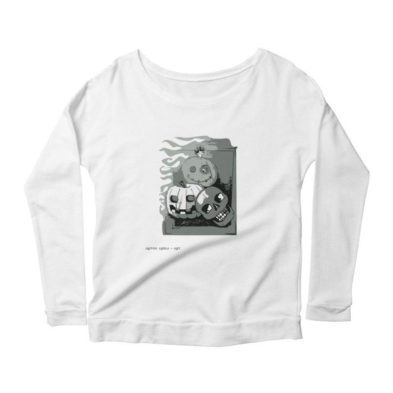 3 Best Buds Women's Scoop Neck Longsleeve T-Shirt by AntonAbela-Art's Artist Shop