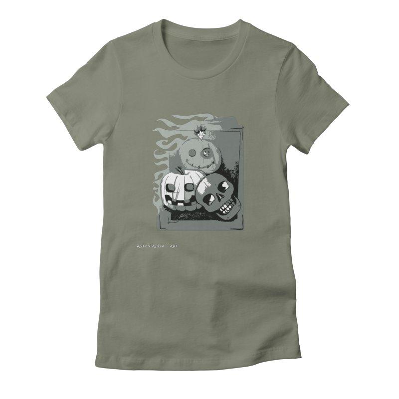 3 Best Buds Women's Fitted T-Shirt by AntonAbela-Art's Artist Shop