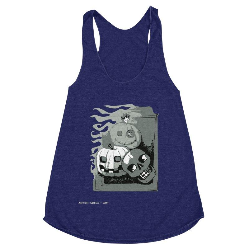 3 Best Buds Women's Racerback Triblend Tank by AntonAbela-Art's Artist Shop