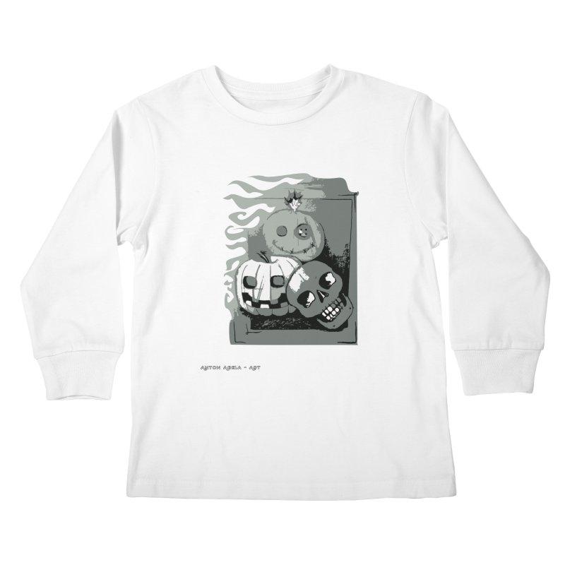 3 Best Buds Kids Longsleeve T-Shirt by AntonAbela-Art's Artist Shop