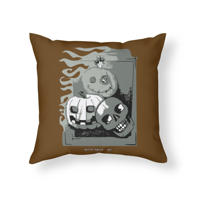 3 Best Buds Home Throw Pillow by AntonAbela-Art's Artist Shop