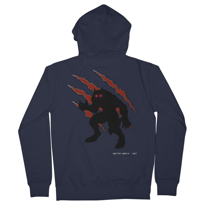 Once Marked By the Beast Men's French Terry Zip-Up Hoody by AntonAbela-Art's Artist Shop