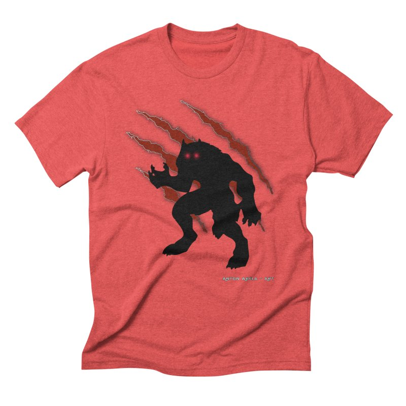 Once Marked By the Beast Men's Triblend T-Shirt by AntonAbela-Art's Artist Shop