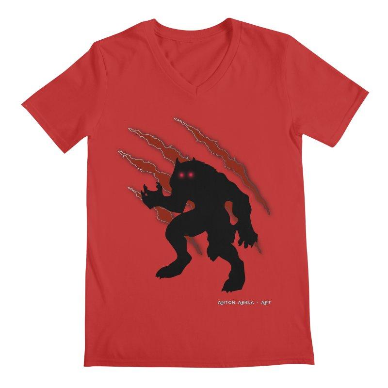 Once Marked By the Beast Men's Regular V-Neck by AntonAbela-Art's Artist Shop