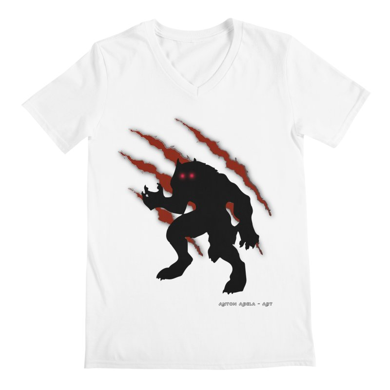 Once Marked By the Beast Men's Regular V-Neck by AntonAbela-Art's Artist Shop