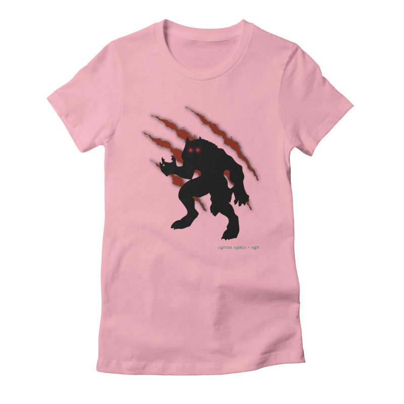 Once Marked By the Beast Women's Fitted T-Shirt by AntonAbela-Art's Artist Shop