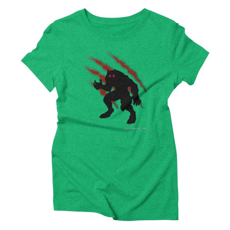 Once Marked By the Beast Women's Triblend T-Shirt by AntonAbela-Art's Artist Shop